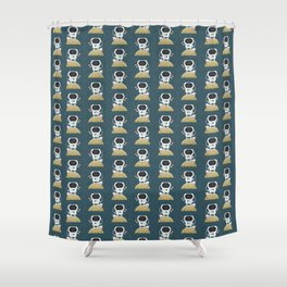 Astronaut kiddo Shower Curtain