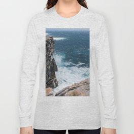 Cliffs off Dún Aonghasa Long Sleeve T-shirt