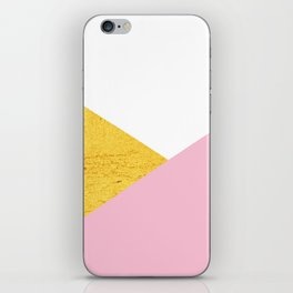 Gold & Pink Geometry iPhone Skin