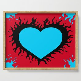 Flaming Heart Serving Tray