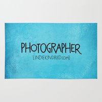 photographer Area & Throw Rugs featuring Photographer by Indie Kindred