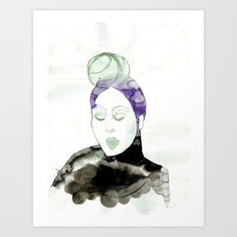 Pureen - Vintage 50s Hairdo Art Print