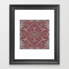 Snowflake Red Framed Art Print