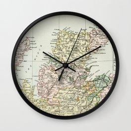 Scotland Vintage Map Wall Clock