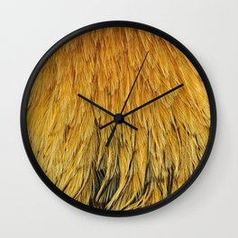 Fancy Rooster Feathers Wall Clock