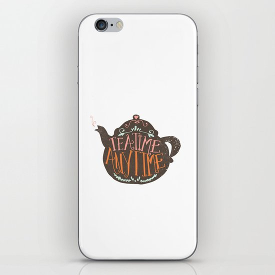 TEA TIME. ANY TIME. - color iPhone & iPod Skin