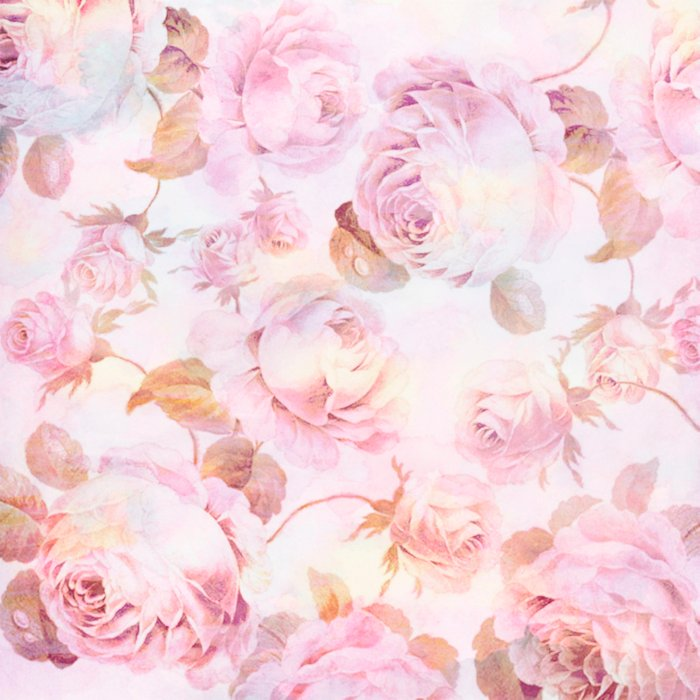 delicate pink roses Comforters