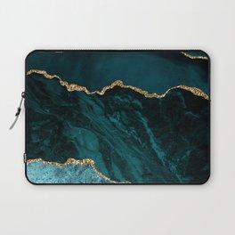 Teal Blue Emerald Marble Landscapes Laptop Sleeve