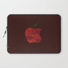 Steve Jobs on Consumers Laptop Sleeve