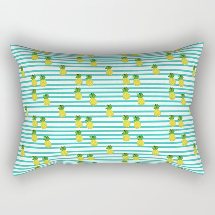 Ananas tropical summer pattern Rectangular Pillow