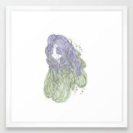 Seaweed Hair Framed Art Print