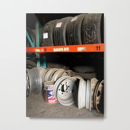 Tires and Rims Metal Print