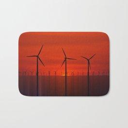 Wind Farms (Digital Art) Bath Mat