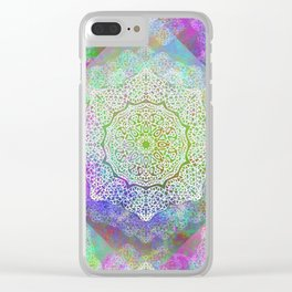 White Flower Mandala G406 Clear iPhone Case