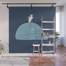 Whalephant Wall Mural