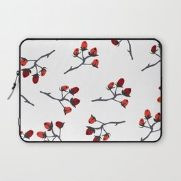 Red berry, Christmas Brier Spray Laptop Sleeve