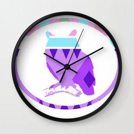 Aztek Owl Wall Clock