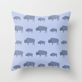 Bison And Baby (Tide) Throw Pillow
