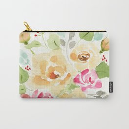 Suede Roses Carry-All Pouch