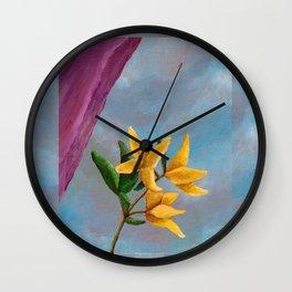 Victorian Forsythia Wall Clock