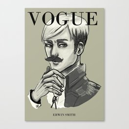 Commander Handsome on the cover of Vogue Canvas Print