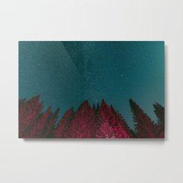 Stars and Pines Metal Print