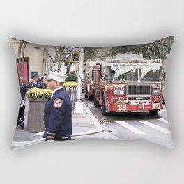 The Fire Dept of New York at 30 Rock Rectangular Pillow