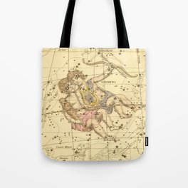 Vintage Gemini Constellation Map (1822) Tote Bag