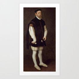 MORO, ANTONIO Utrecht, 1516 - Amberes  , 1576 Perejon, the Buffoon of the Count of Benavente and of Art Print