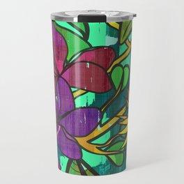 Tropical leaves, jungle print Travel Mug