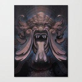 Stone Face Galaxy Canvas Print