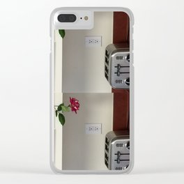 Toaster and Rose hanging out Clear iPhone Case