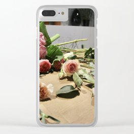 Kazakh Roses Clear iPhone Case