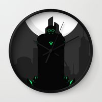 danny ivan Wall Clocks featuring Ivan Dyatlov by Oblivion Creative