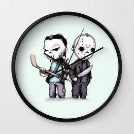 Hockey Mask Buddies Wall Clock