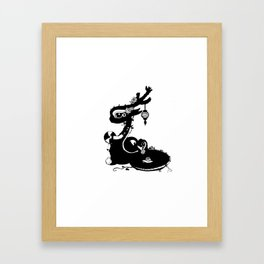 Dragons and Roses Framed Art Print