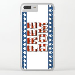 Freedom - Stars and Stripes Clear iPhone Case