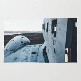 Airplane Wreckage  Rug