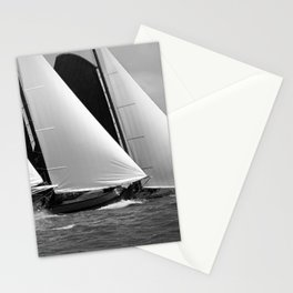 Skutsjes sailing vessels in a regatta Stationery Cards