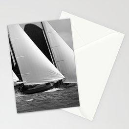Skutsjes sailing vessels in a regatta Stationery Cards