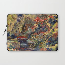 Autumn on the Delaware Canal in Bucks County, Pennsylvania. From oil painting by Pamela Parsons. Laptop Sleeve