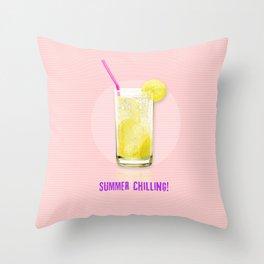 Summer Chilling! Throw Pillow