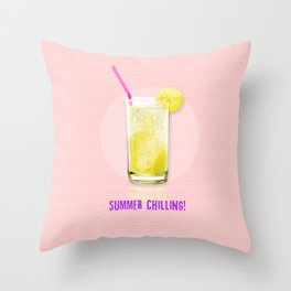 Summer Chilling! Throw Pillow