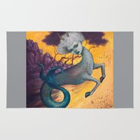 capricorn Area & Throw Rugs featuring Capricorn by Artist Andrea