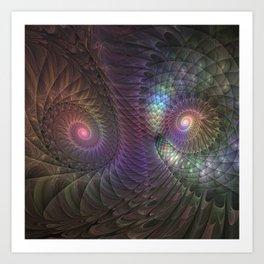 Fantasy Spirals Fractals Art Art Print