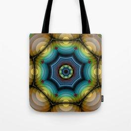 big dots fractal madala Tote Bag