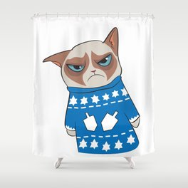 GC in Holiday Sweater 03 Shower Curtain