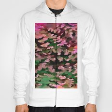 Foliage Abstract In Pink, Peach and Green Hoody