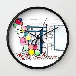 Balloons in Georgetown Wall Clock