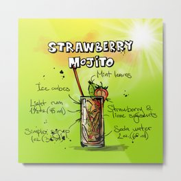 Strawberry_Mojito_002_by_JAMFoto Metal Print